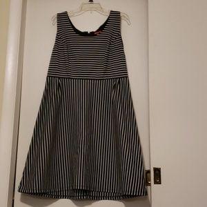 Cute Merona black and white striped dress